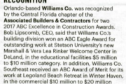 Jan. 5, 2018 Orlando Business Journal Recognition