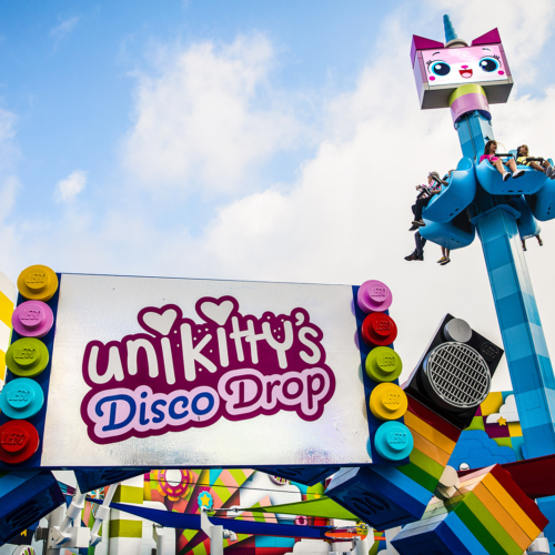 movie world unikitty drop ride