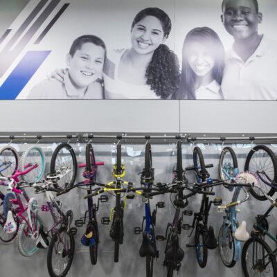 Indoor Bike Rack at Goodwill